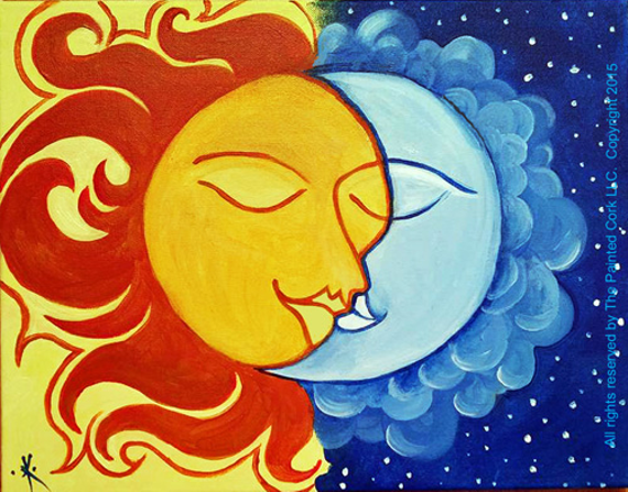 sun moon date night