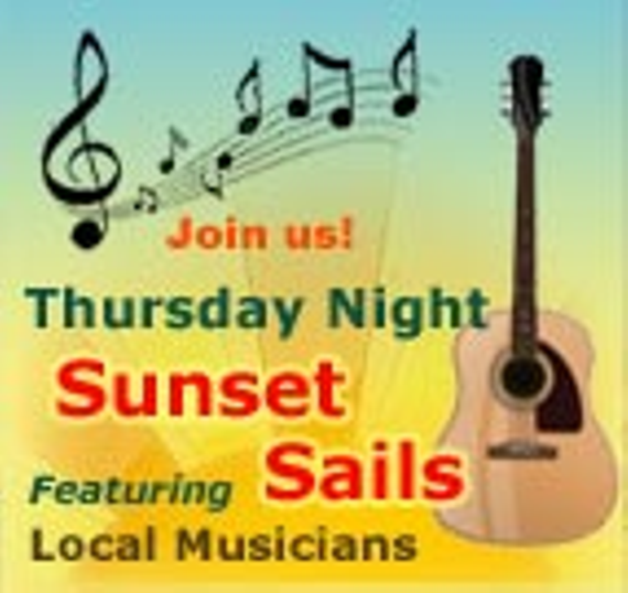 Thursday night sunset sailing music cruises