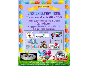 27th Annual Easter Bunny Trail - start Mar 29 2018 0500PM