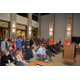 Athletes, previous and current, under Todd Etherington's coaching stood during the proclamation reading that honored their coach. (Dan Metcalf/Cottonwood Heights)