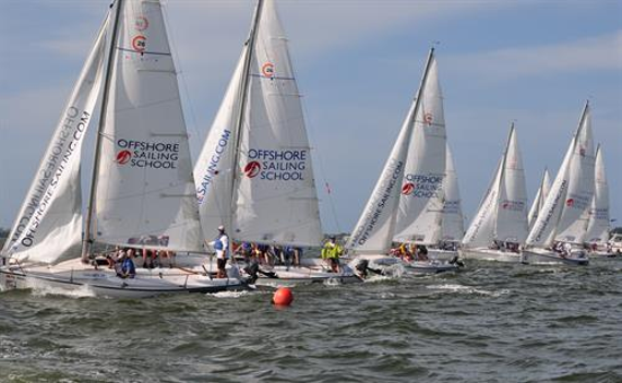 Offshore sailing school performance race week   2016 at the mark