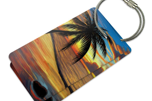 Beach Sunset Luggage Tag