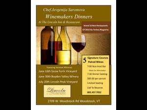 Winemakers Dinner Snow Farm Vineyard - start Jun 16 2018 0700PM