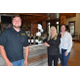Winemaker Jacques van der Vyver Owner Brenda Dedrick and Marketing Director Abigail Miller at Chateau Bu-De Winerys new tasting room Photo by Richard Gaw
