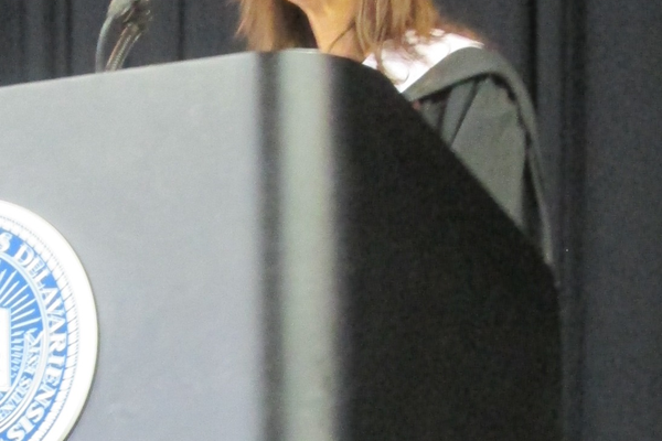 Guest speaker Veronique Liska was selected by the senior class to speak at graduation.