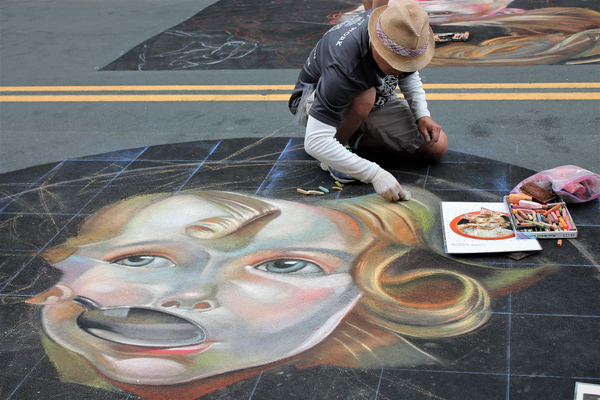 Chalkfest 2018 in Maple Grove (photo by Wendy Erlien / Maple Grove Voice)