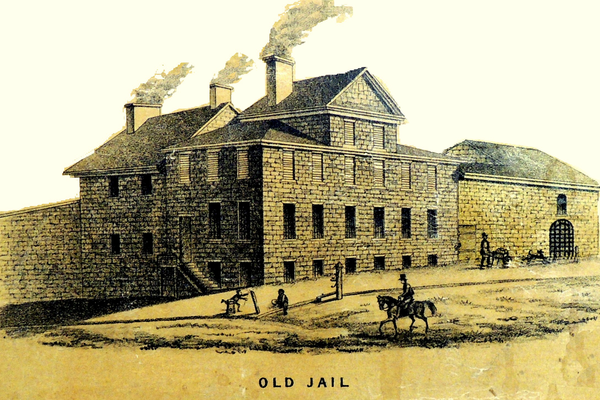 The Old Lancaster County Jail, where a marker will be placed to commemorate the actions of Sheriff Dave Miller.