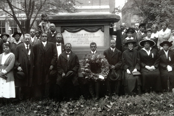 Negro Civic League, 1920, at Thaddeus Stevens' Grave. The Negro Civic League of Southeastern Pennsylvania was born out of the wish to secure the American Dream for all.  Citizenship, economic development and education were key elements of their activities.