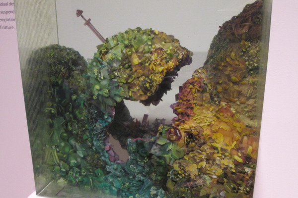 'Cambodian Grass Cave' by Dustin Yellin.