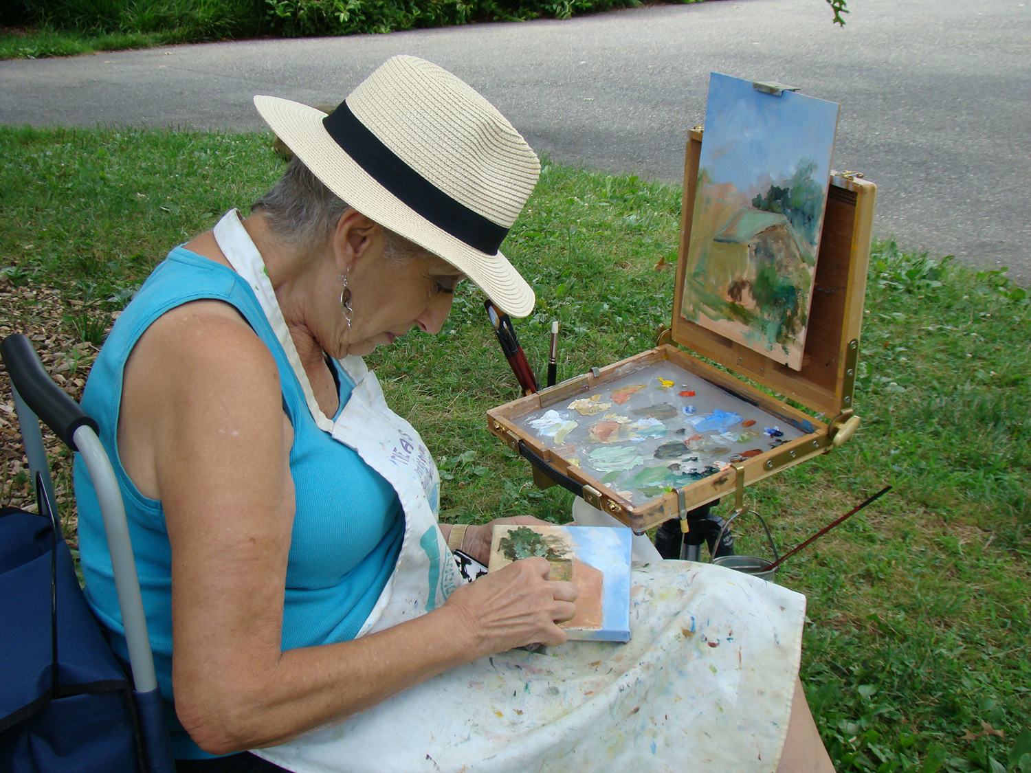 Plein air painting photo gary bloomer
