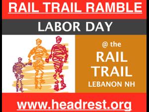 ANNUAL RAIL TRAIL RAMBLE TO BENEFIT HEADREST - start Sep 03 2018 0900AM