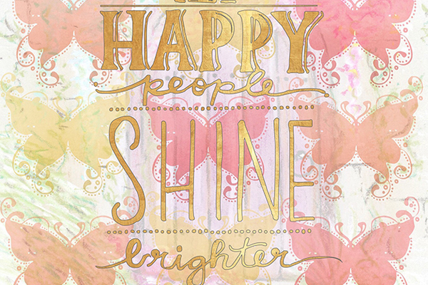 Happy People Shine Brighter Weekly Calendar and Motivational Journal
