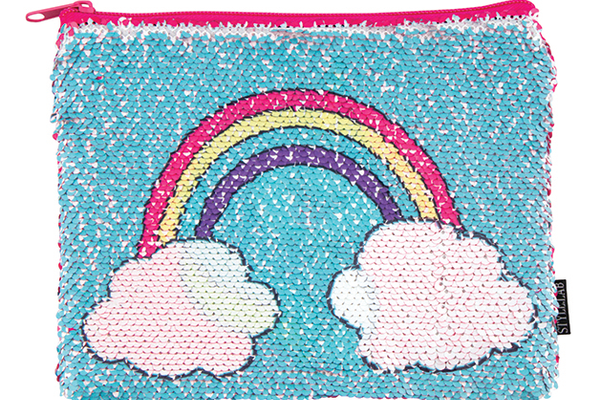 Rainbow Magic Sequin Zip Pouch