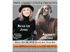 Rickie Lee Jones  Anders Osborne - start Sep 28 2018 0700PM