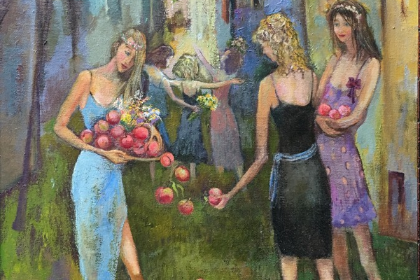 'Girls and Peaches' by Matiko Mamaladze.