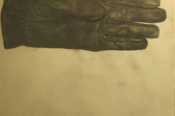 'Glove,' a pencil drawing by Evan Kitson.