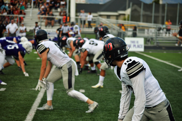 Alta's wide receivers line up for a play.