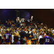 Fans huddled into the Lehi gymnasium for about an hour because of a lightning warning in the area.
