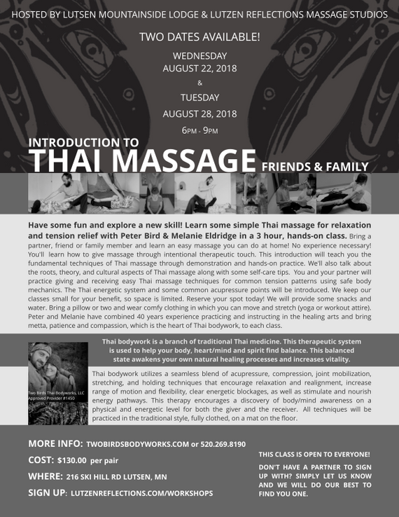 Intro to Thai Massage - Friends & Family Night