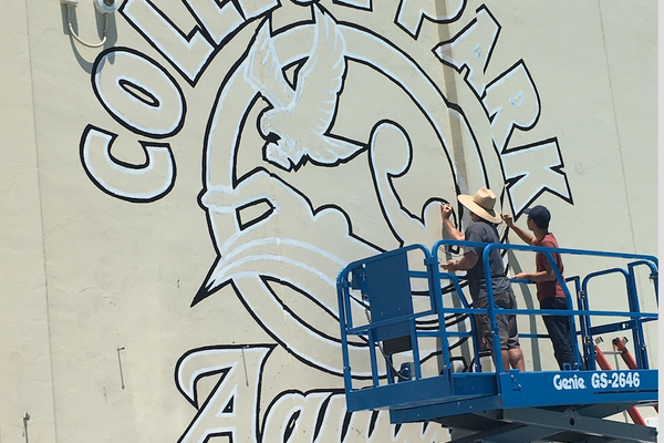 Working on the College Park Mural