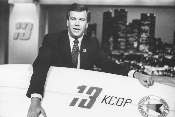 Chamberlin surfed San Clemente as a teen, then went on to be a TV News Anchor.