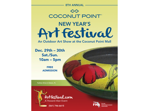 8th Annual Coconut Point New Years Art Festival - start Dec 29 2018 1000AM