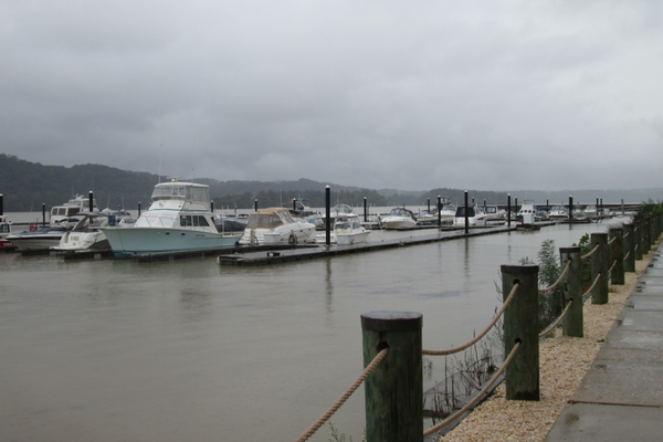 The marina on the Susquehanna sits on the scenic Riverwalk.