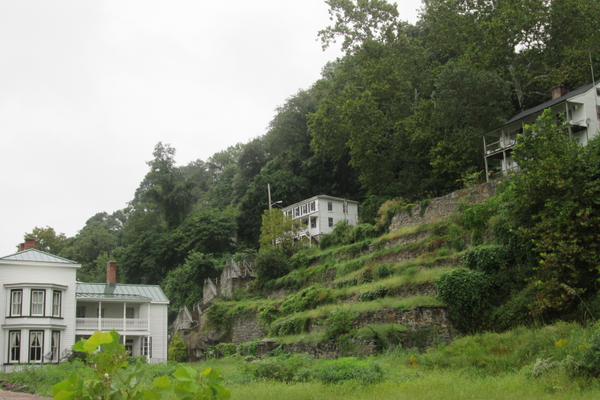 The terraces are a distinctive feature of Port Deposit.