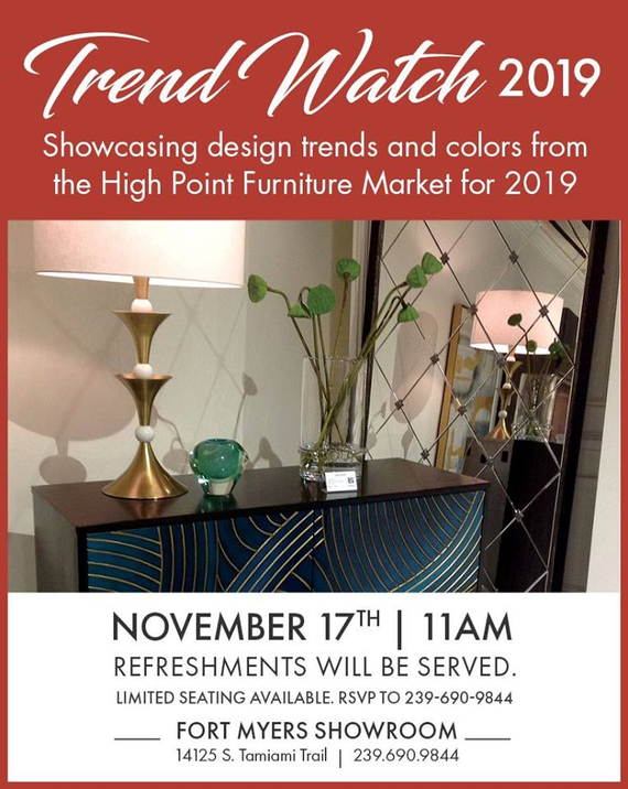 Showcasing the latest and greatest design trends and colors from the High Point Furniture Market for 2019.