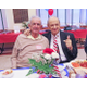 World War II veterans Al DiNorscia 92 and Tilly DAndrea 93 give a thumbs-up during lunch at the Kennett Area Senior Center Photo by Chris Barber