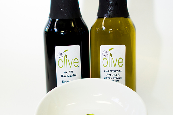 Dipping Set, $24 (includes extra virgin olive oil,  aged balsamic vinegar, and dipping bowl) at We Olive