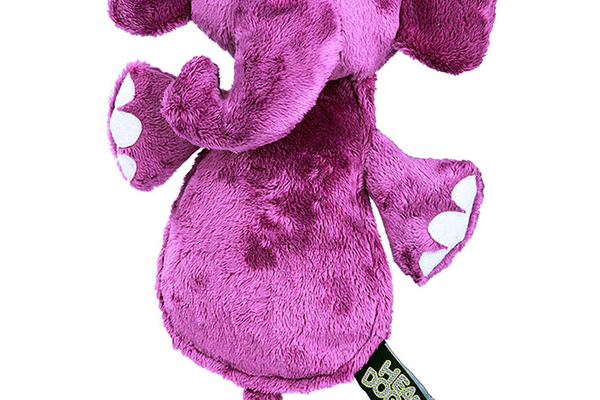 Hear Doggy Silent Squeaker Flattie Elephant Toy, $12.99