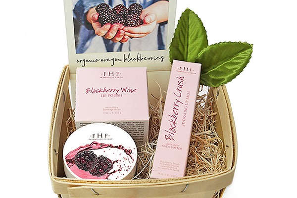 Holiday Blackberry Lip Gift Basket, $30 at FarmHouse Fresh