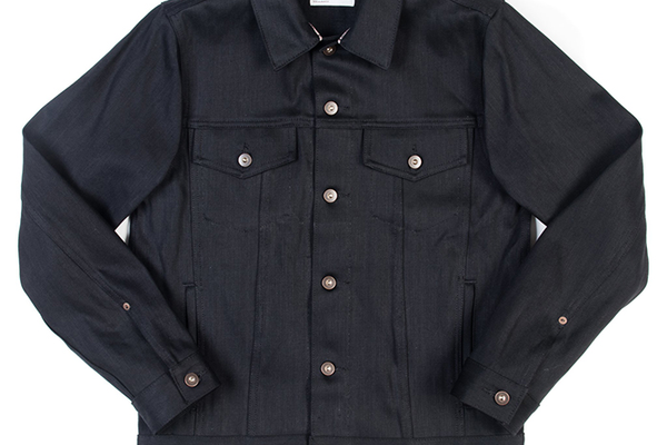 Tellason Black Japanese Selvedge Denim Jean Jacket, $260