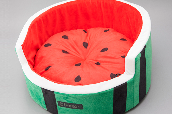 Watermelon Shaped Microfleece Bed, $60 at Posh Puppy Boutique