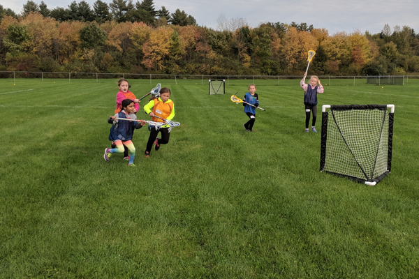 Several girls teamed up during TYLA's fall clinic to play a 3v3 game. (Courtesy photo)