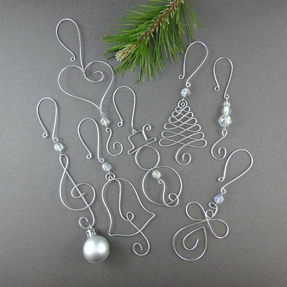 Wire christmas ornament