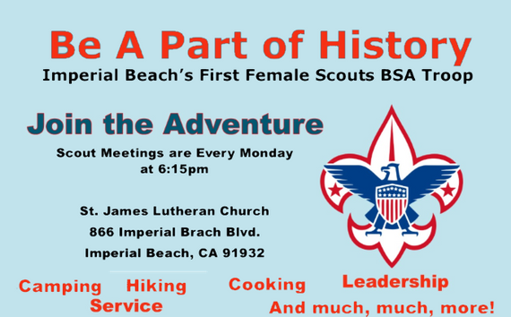 First Female Scout Troop Meeting Part Of The Bsa