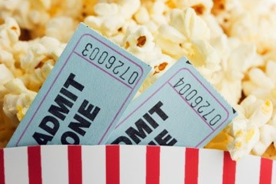 Popcorn movie tickets
