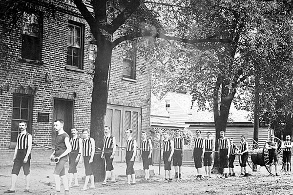 Fire department running team in 1891