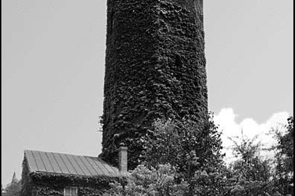 The tower when it was still covered in ivy, 1960s