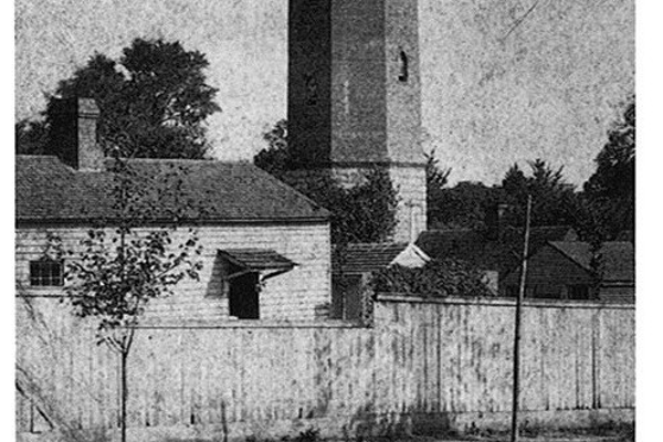 Back of the tower in 1901