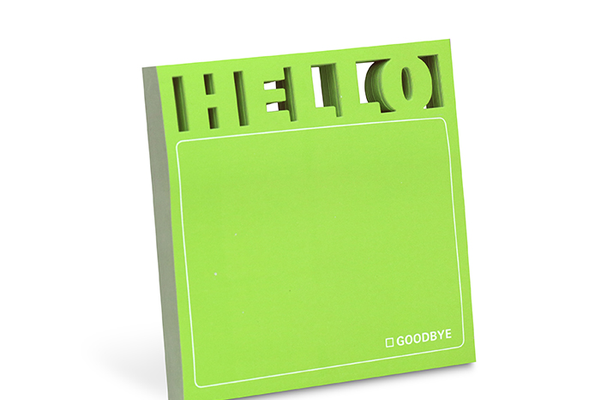 """Hello"" Die Cut Sticky Notes"