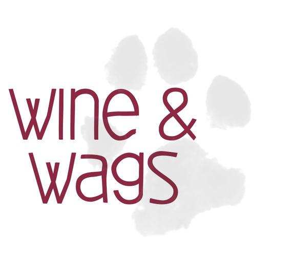 Wine wags vertical 209 black pawprint ol