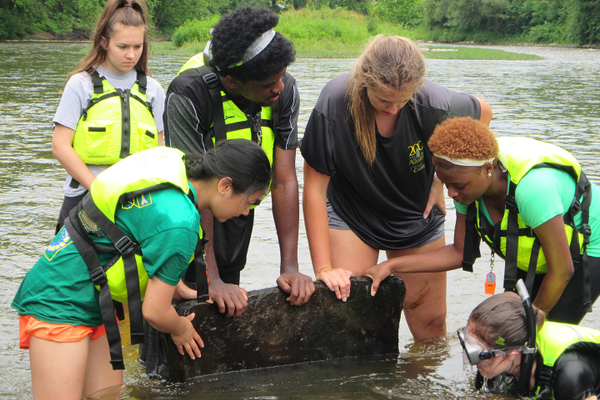 Allegheny College's annual Creek Camp