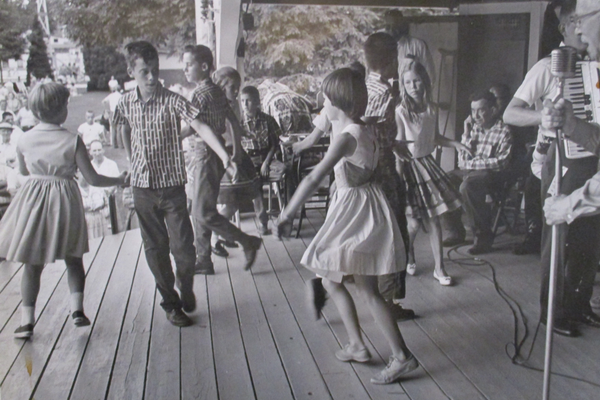 Children square dance during the Old Fiddlers Picnic.