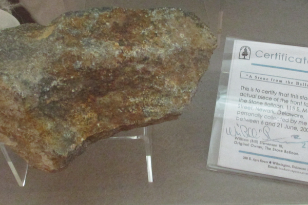 An official piece of the Stone Balloon.