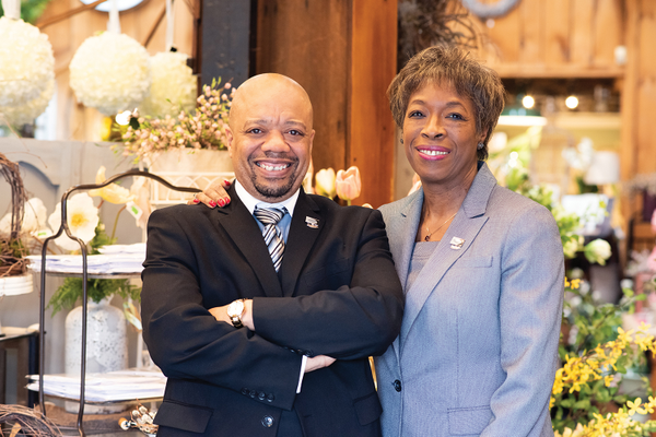 Shawn E. Hicks, director of membership and program development, with Doris Carson Williams, CCE, president of the African American Chamber of Commerce of Western Pennsylvania.