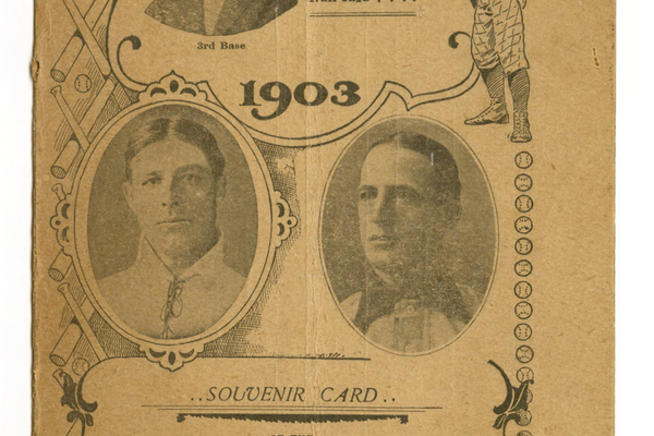 1903 World Series program card