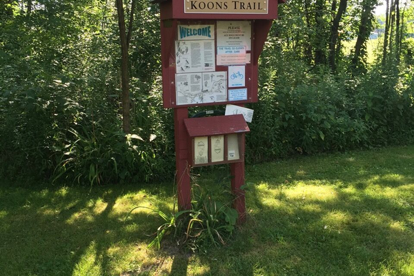 One of two trailheads Diane Donato